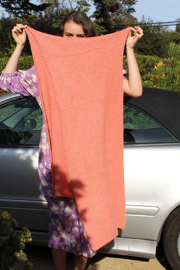 Fuzzy Comey bufanda Knit Rachel manta F4pqxWw