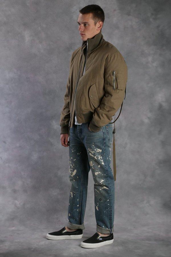 5740755de Helmut Lang High Collar Bomber Jacket