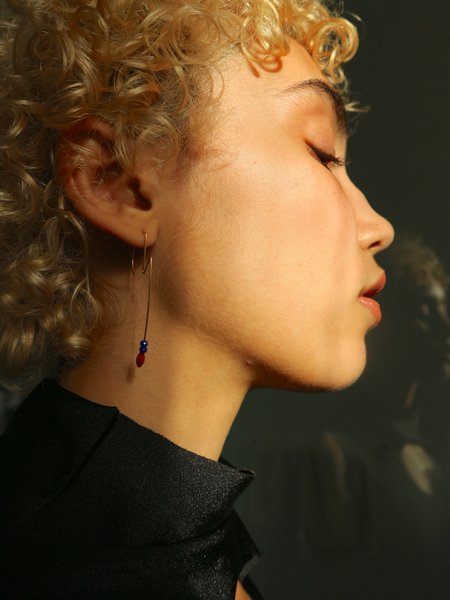 Melissa McArthur Coral & Lapis Lazuli Earrings