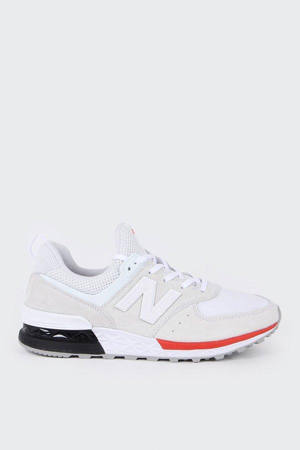 New Balance 574 Sport - white/navy/red