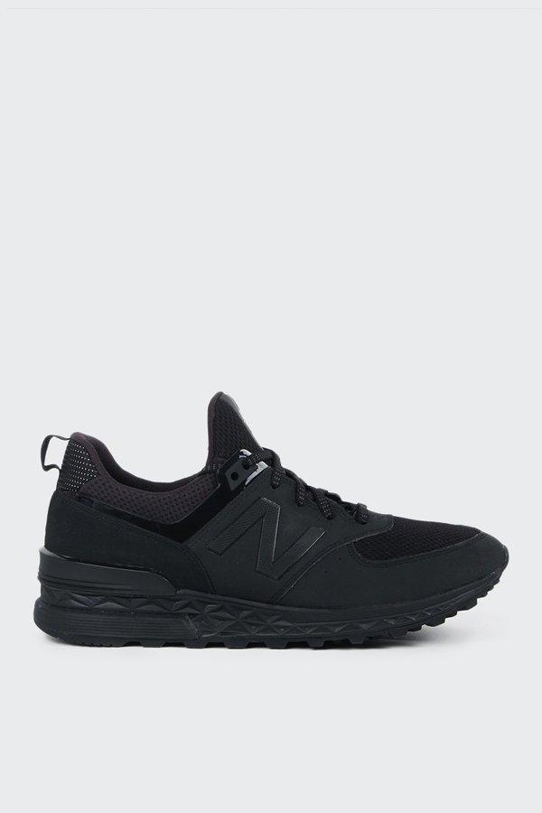 New Balance 574 Sport MS574SCF triple black on Garmentory