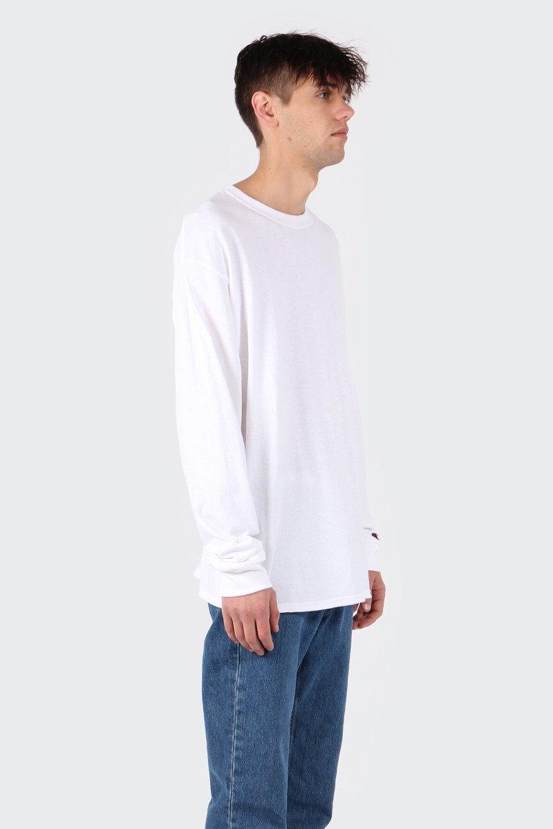 Champion blank long sleeve t shirt white garmentory for Blank long sleeve shirt