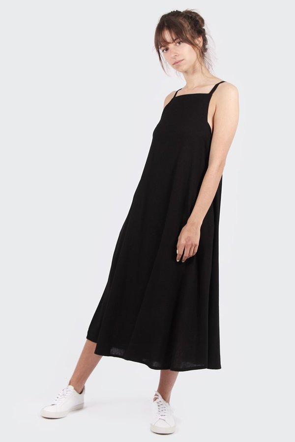 Grace Linen Dress - black. sold out