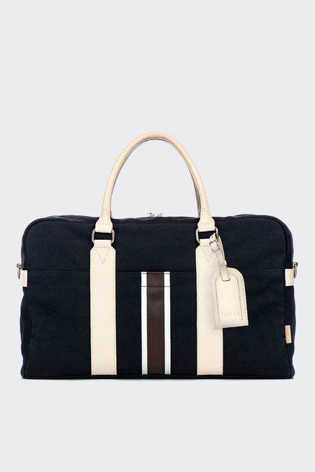 TAIKAN EVERYTHING Prowler Duffle Bag - black/off white/veg tan leather