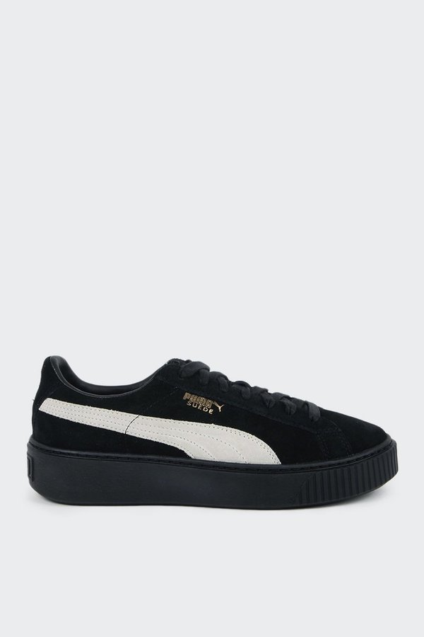 separation shoes a2712 12965 Puma Suede Platform - black/gold on Garmentory