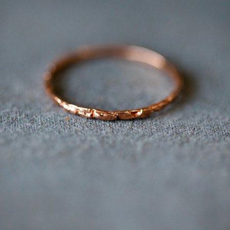 Blair Lauren Brown Pave Nugget Ring - Rose Gold