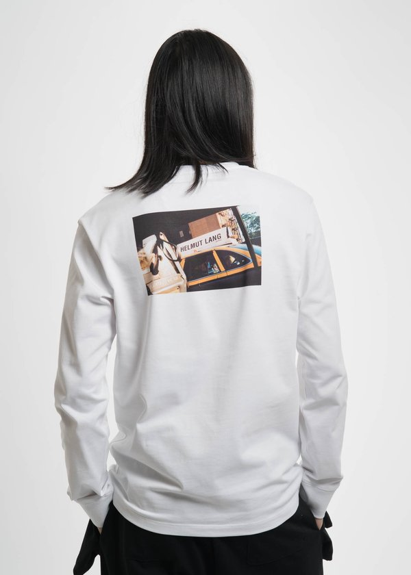 0458887f0 Helmut Lang White Taxi Long Sleeve T-Shirt   Garmentory