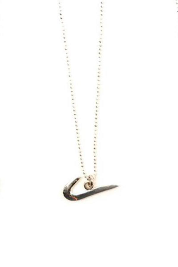 640e6c63f3a47 Tuza Nike Swoosh Charm Necklace - Silver on Garmentory