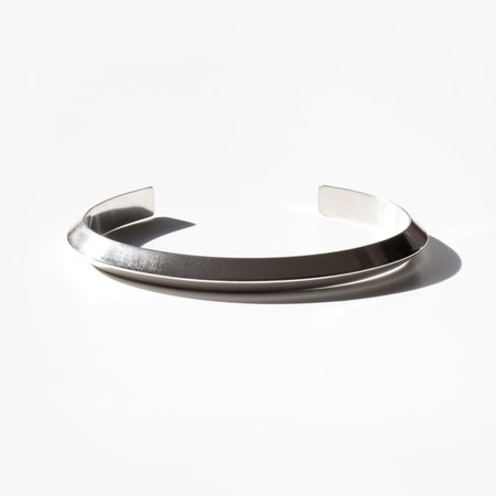 Another Feather Esker Cuff - Silver