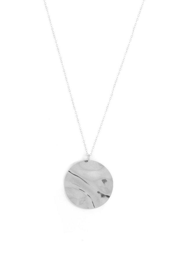 Wolf Circus Harris silver medallion necklace 7khr1