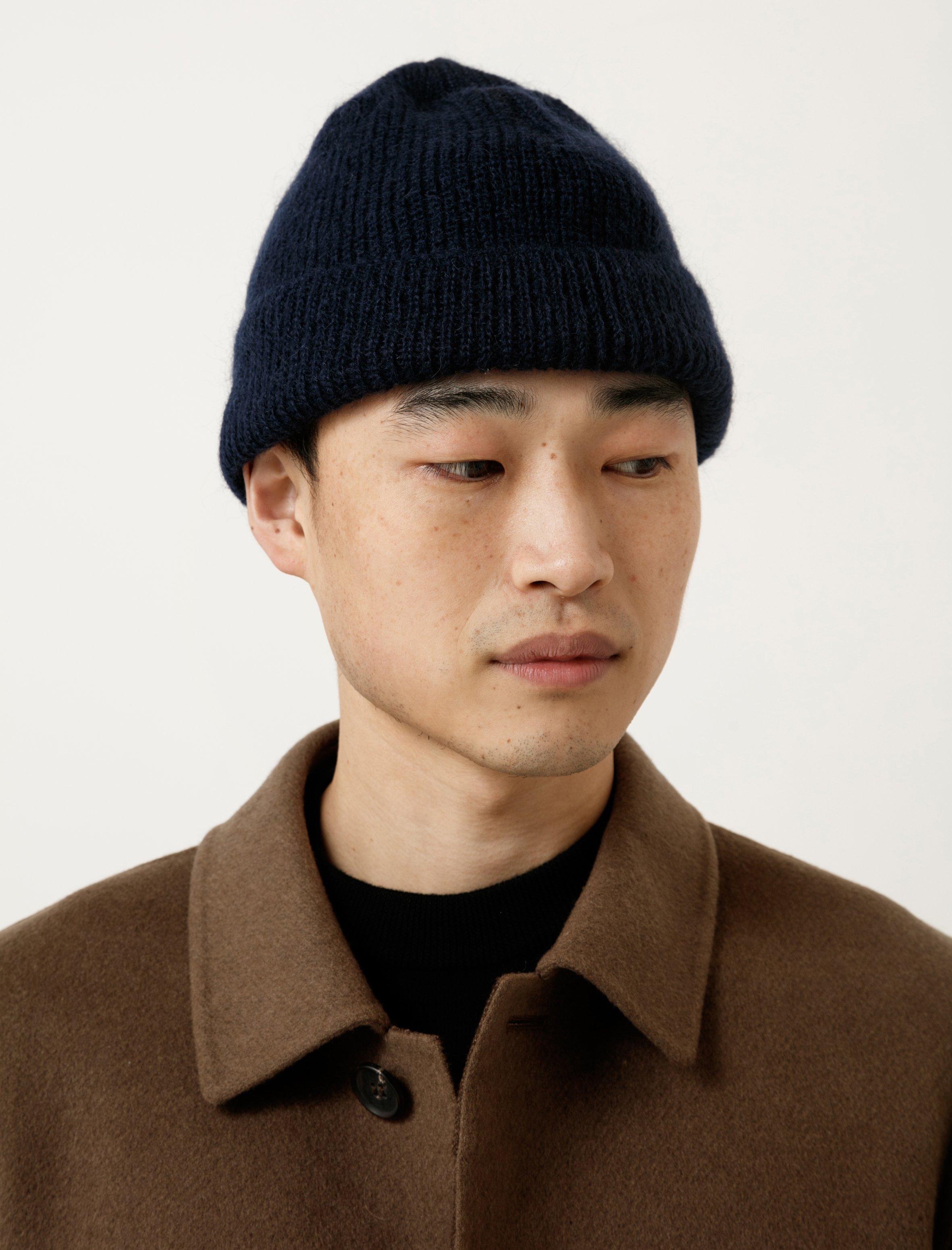 047c083e0 Our Legacy Knitted Hat - Navy Mohair