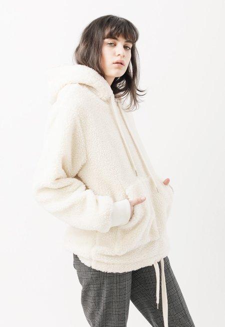 Unisex RCKT Sherpa Fleece Pullover - off white