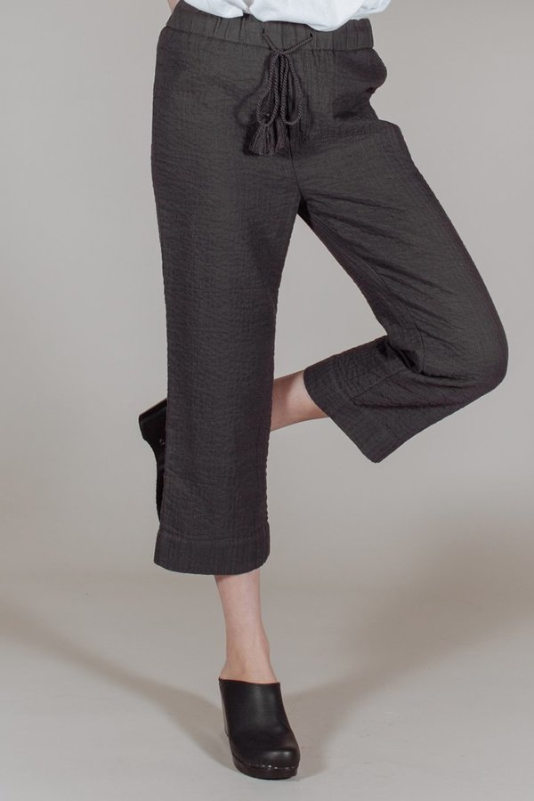 Voloshin Quilted Trousers in Soft Black | Garmentory : quilted trousers - Adamdwight.com