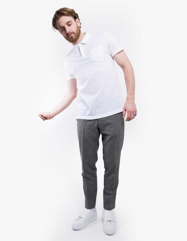 92bbb1de Sunspel Riviera Short Sleeve Polo - White | Garmentory