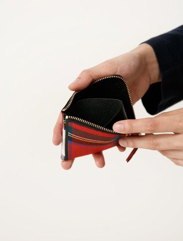 954d13a7ff5b9 Comme des Garçons Red Tartan Patchwork 3 4 Zip Wallet - SA3100TP ...