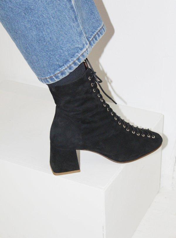 By Far Becca Boot Black Suede Garmentory