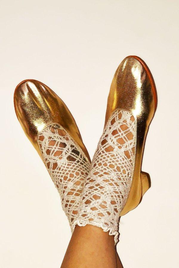 Martiniano High Glove Shoe - Gold