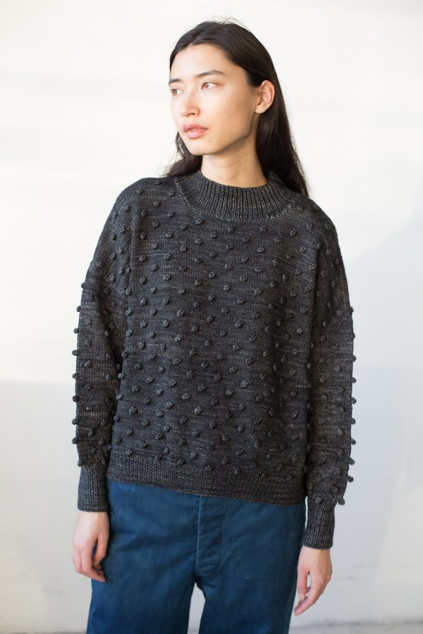 Misha And Puff Popcorn Sweater In Graphite On Garmentory