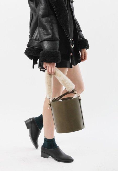 Among Two Strap Bucket Bag - Moss Green