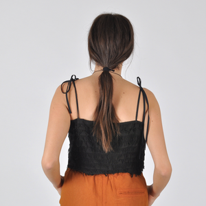 Nikki Chasin Crane Tie Cami - Black