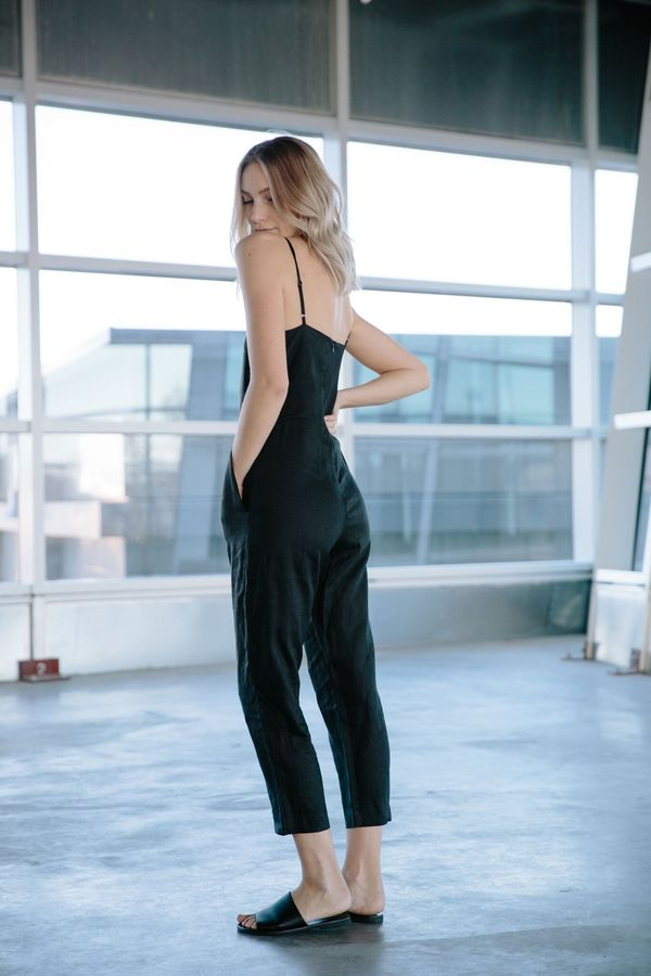 7f9addb200d4 Assembly Label Flow Linen Tank Pant Jumpsuit