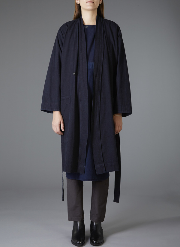 Unisex Grei Panel Robe Indigo Denim Garmentory