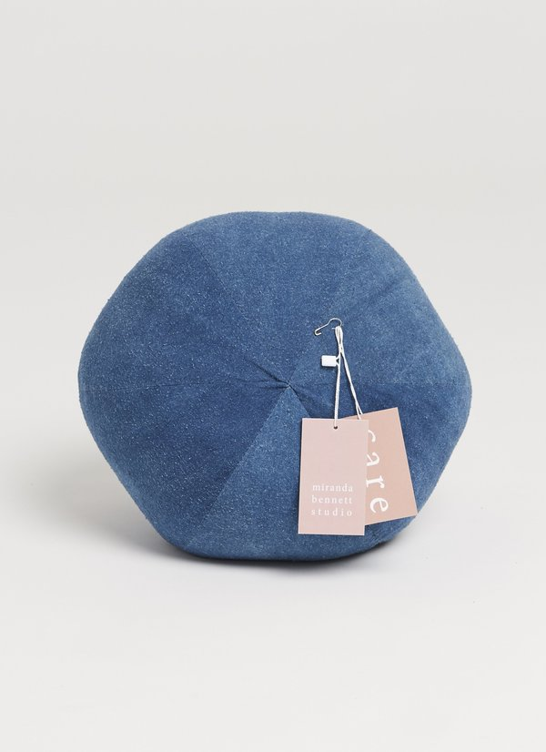 Miranda Bennett Zero Waste Globe Pillow - Dark Indigo