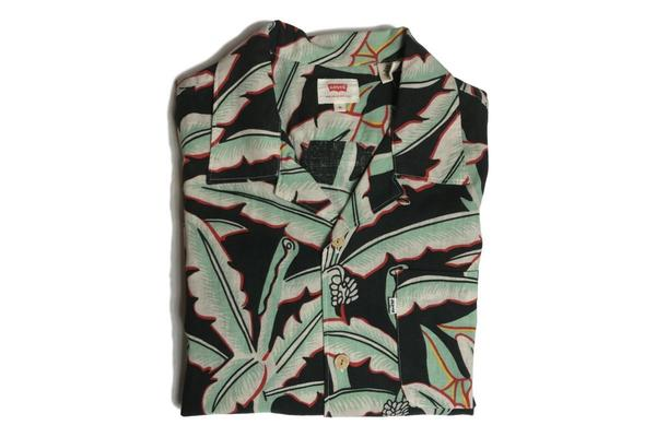 Levis Red Tab Hawaiian Shirt - Holtville Ming Green