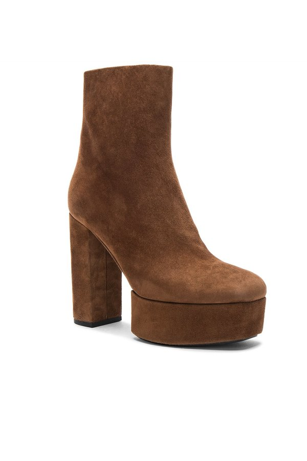From China Cheap Price Exclusive Alexander Wang Cora Suede Boots in Dark Truffle Cheap Cheap Online Outlet Browse Free Shipping Popular 9qmQt