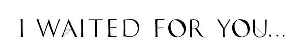 I--w-a-i-t-e-d--f-o-r--y-o-u-.-.-.-new-york-ny-logo-1501796319